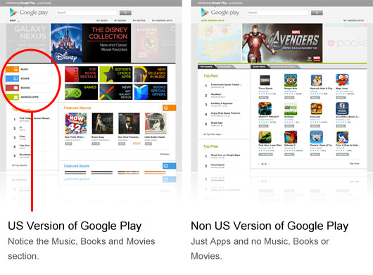 How to get the American version of Google Play outside the US