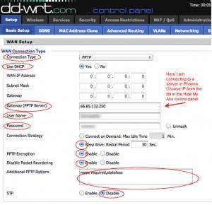 DD-WRT setup hide my ass - VPNfreedom